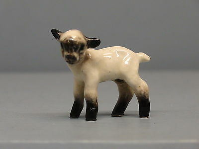HTF Hagen Renaker Glossy Baby Lamb with Shaded Face & Legs