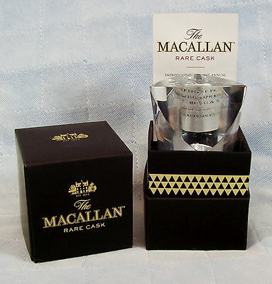 Crystal Bottle Stopper Macallan Rare Cask Scotch Whiskey Rare 1st Edition 2015