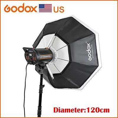 "Godox 120cm 47"" Bowens Mount Softbox for Studio Strobe Speedlit  Flash Light"