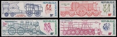Gabun 1975 - Mi.Nr. 556-559 ** - MNH - Lokomotive / Locomotive
