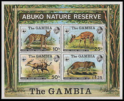 Gambia 1976 - Mi-Nr. Block 2** - Wildtiere / Wild Animals - WWF