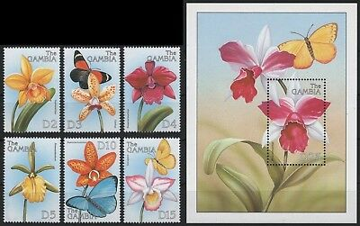 Gambia 1999 - Mi-Nr. 3367-3372 & Block 433 ** - MNH - Orchideen / Orchids