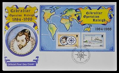 Gibraltar 1988 - Mi-Nr. Block 11 - Operation Raleigh - Schiffe / Ships - FDC