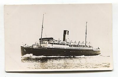 SS Canterbury - English Channel ferry boat - c1950's real photo postcard