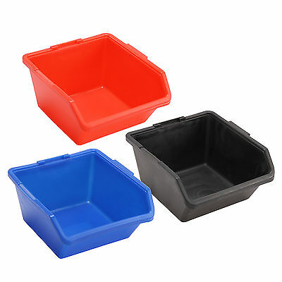 2/5/10pcs Open Fronted Storage Bin Plastic Part Picking Workshop Tool Box L Size