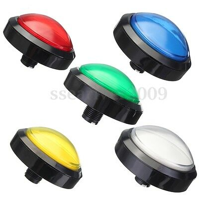 Massive Arcade Button with LED 100mm 5 Colors Convexity Console Replacement