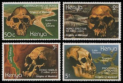 Kenia 1982 - Mi-Nr. 210-213 ** - MNH - Anthropologie