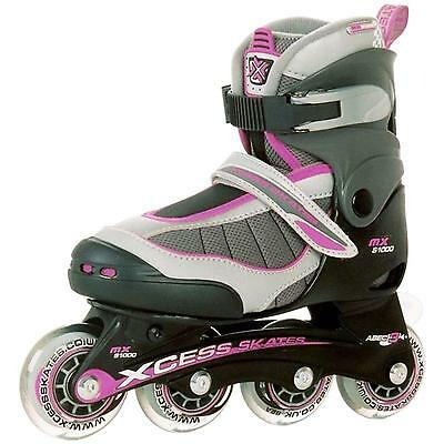 Xcess MX S1000 Lilac Kids Adjustable Inline Skates