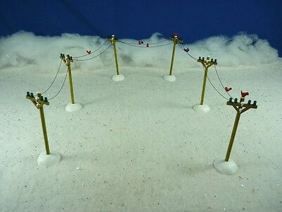 Dept 56 Village Accessory Telephone Poles #52656 NEW (a1732)