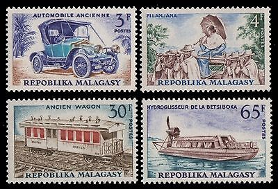 Madagaskar 1966 - Mi-Nr. 550-553 ** - MNH - Transport