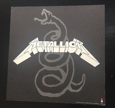 "Metallica The Black Album 1991 2-Sided Promo Poster 12""x12""  Near Mint"