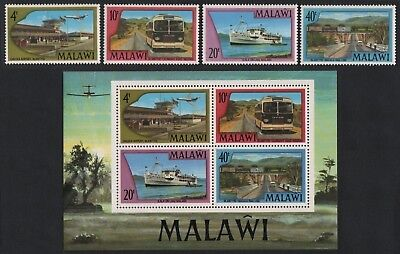 Malawi 1977 - Mi-Nr. 281-284 & Block 48 ** - MNH - Transport