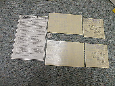 Thinfilm decals S Gauge SN-11  Rio Grande Southern Narrow wh sil Lot 4   C103