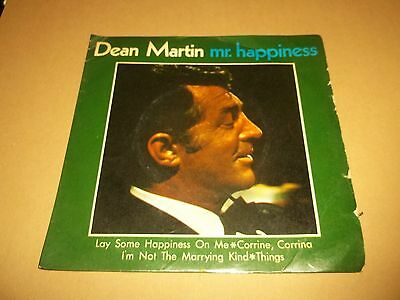 "Dean Martin "" Mr Happiness "" Rare 7"" Ep Reprise Rep 30084 G/vg 1966"
