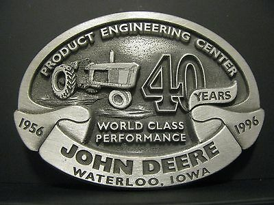 John Deere Product Engineering Center 40th Anniv Belt Buckle UAW LtD Ed 1/250