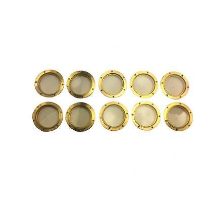 10 x Caldercraft Brass Flanged Glazed Portholes 10mm