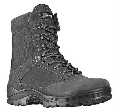 Tactical Boots m. YKK Zipper urban grey, Camping, Outdoor, Military -NEU-