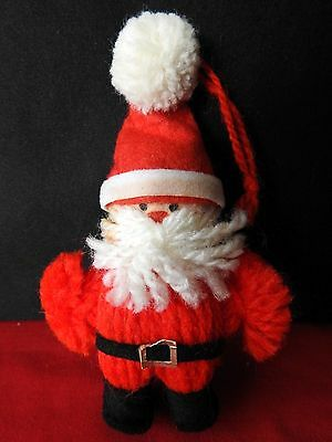 Hallmark Ornament 1978 Yarn Santa Ornament