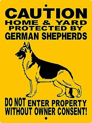 "GERMAN SHEPHERD DOG SIGN, 9""x12"" ALUMINUM SIGN,GUARD DOG,Security,H2496HGSV2"