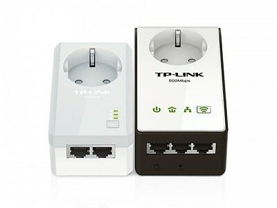 TP-LINK AV500 Powerline Wireless Range Extender Passthrough Kit Plug-Type F (EU)