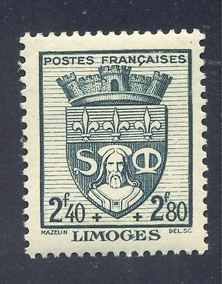 """Coat of Arms: """"Limoges"""", City Coat of Arms, 1942 France, Scott #B142"""