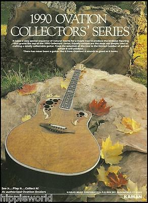 The 1990 Ovation Collectors Series guitar ad 8 x 11 advertisement print
