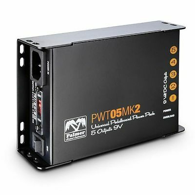 Palmer MI PWT05 MK2 Universal 9V Pedalboard Power Supply With 5 Outputs
