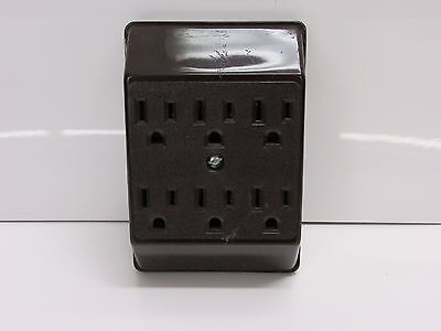 Nos! Lot Of 2 Eagle Six Outlet Grounding Adapter, No. 1146B, Brown