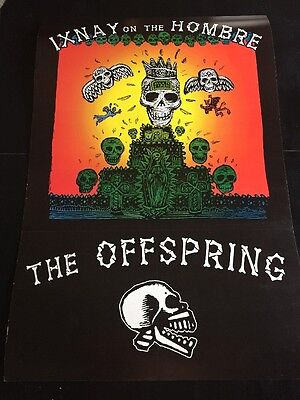 """The Offspring Poster Ixnay On The Hombre Huge 24""""x36"""" Ex To Near Mint"""