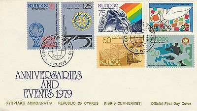 1979 Cyprus Anniversaries First Day Cover Special PMK Ref: MT591