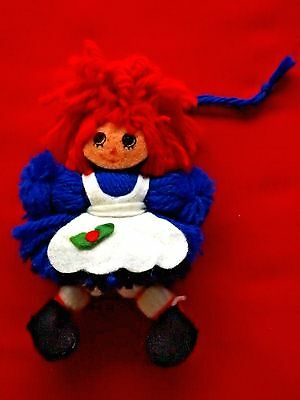 Hallmark Ornament 1975 Yarn Raggedy Ann Bobbs Merrill Ornament Hard To Find
