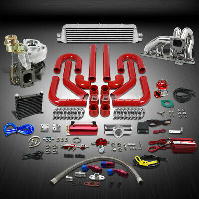 T25/t28 Td04 250Hp+13Pc Turbo Charger+Manifold+Intercooler Kit For Sr20De 240Sx