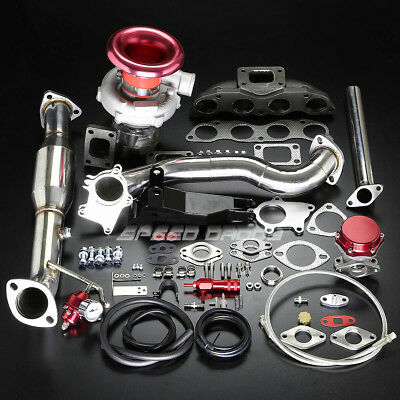 EP3 K20 T04 STAGE III TURBO CHARGER CAST MANIFOLD BOLT-ON KIT FOR 02-05 CIVIC Si