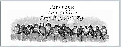 30 Personalized Address Labels Birds Buy 3 get 1 free (ac 545)