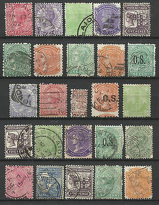 SOUTH AUSTRALIA Collection 25 Different COLONIES STATES Stamps Used (Lot 1)