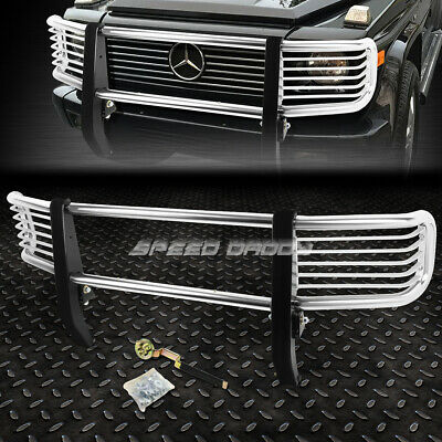 For 99-12 G-Class W463 G500 Suv Chrome Stainless Steel Front Bumper Grill Guard
