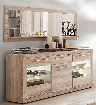 sideboard kommode sandeiche weiss woody 93 00998 eur. Black Bedroom Furniture Sets. Home Design Ideas