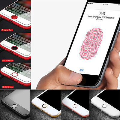 Touch ID Aluminum Home Button Sticker Button Fingerprint Indentity fr iPhone CA