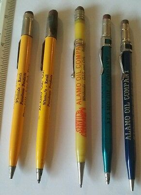 VINTAGE ALAMO OIL COMPANY MECHANICAL PENCILS VERY  OLD 1930's GAS & OIL RETAIL