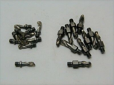 (20) 1/4-28 Threaded Piloted Drill Bits .185 / .155 & .245 / .213