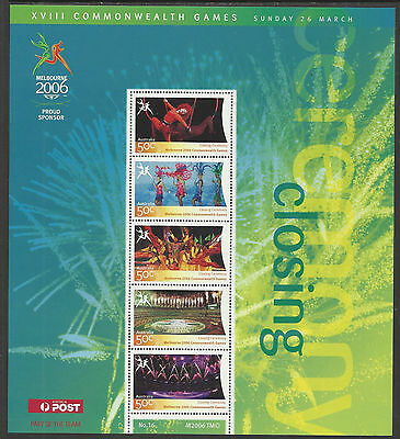 AUSTRALIA 2006 COMMONWEALTH GAMES CLOSING CEREMONY Souv Sheet No 16 MNH