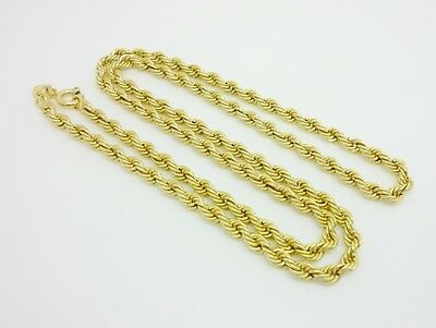 """Gorgeous Italian 9ct Yellow Gold Rope Link 18"""" Necklace/Chain"""