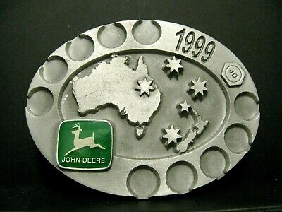 1999 John Deere Limited Australia Service Training Pewter Belt Buckle Ltd Ed  #1
