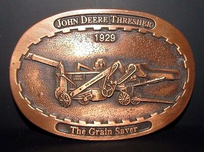 John Deere 1929 Thresher The Grain Saver Belt Buckle 1993 Limited Ed #011 Moline