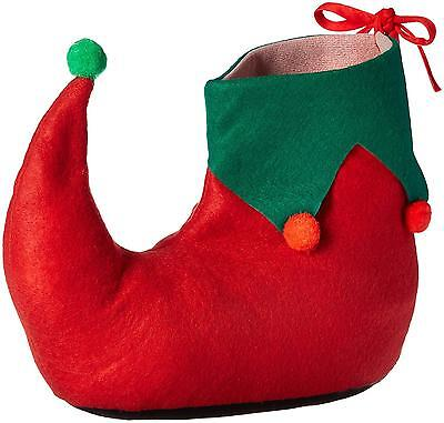 Rubie s Adult Elf Shoes Green Red One Size