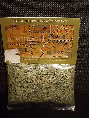 1 Ounce Bag Of Shredded Us Currency Bills, Federal Reserve Bank Of Cleveland, Oh