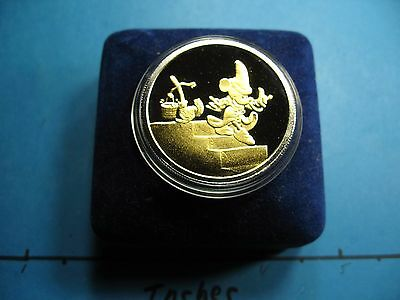 Sorcerer Mickey Mouse Disney 50Th Anniversary Fantasia 999 Silver Gold Coin Case