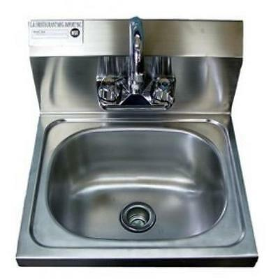 """Stainless Steel Hand Sink 16.5"""" X 16"""" NSF Commercial Equipment"""