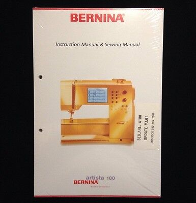 Genuine Bernina Instruction Manual and Sewing Manual For Artista 180