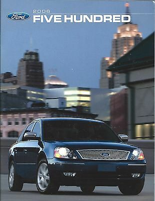 Auto Brochure - Ford - Five Hundred - 2006 - Code 06FIVECAT (A1196)